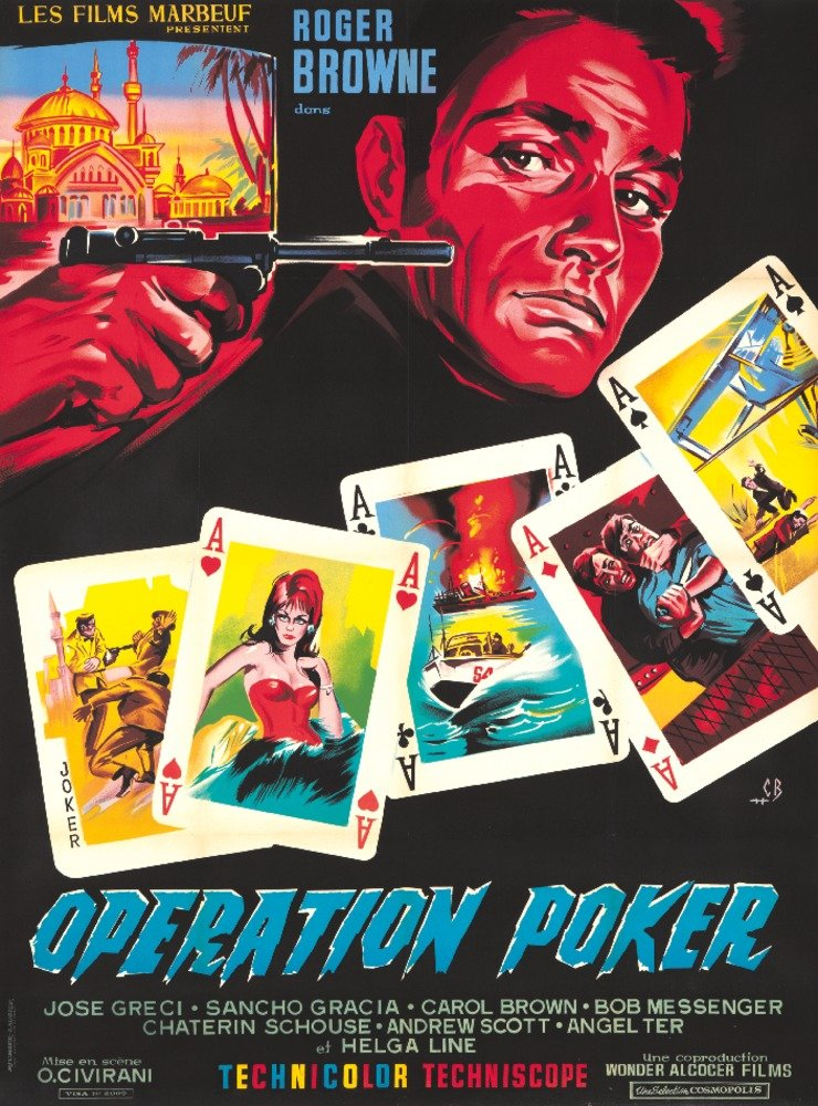 操作Poker VintageポスターフランスC。1965 36 x 54 Giclee Print LANT-64769-36x54 36 x 54 Giclee Print  B01M70AAUH