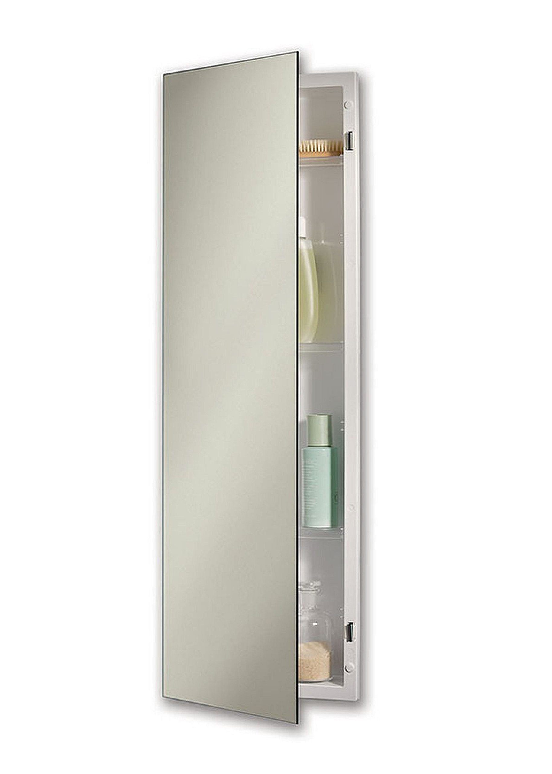 Jensen 735M34WHGX Polished Edge Mirror Medicine Cabinet, 12'' x 36'' by Jensen
