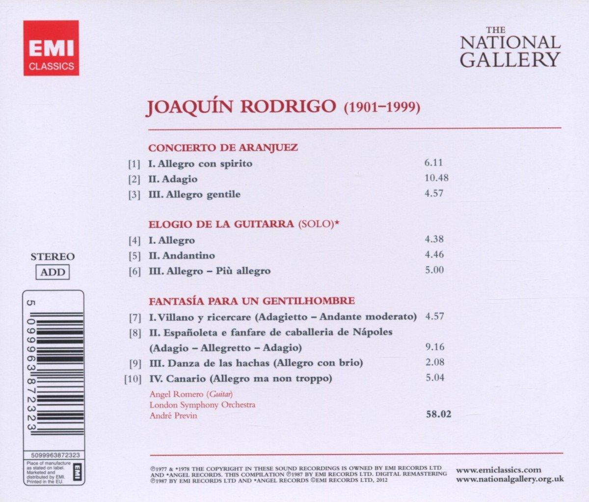 Rodrigo: Concierto de Aranjuez, Fantasia para un Gentilhomme ...