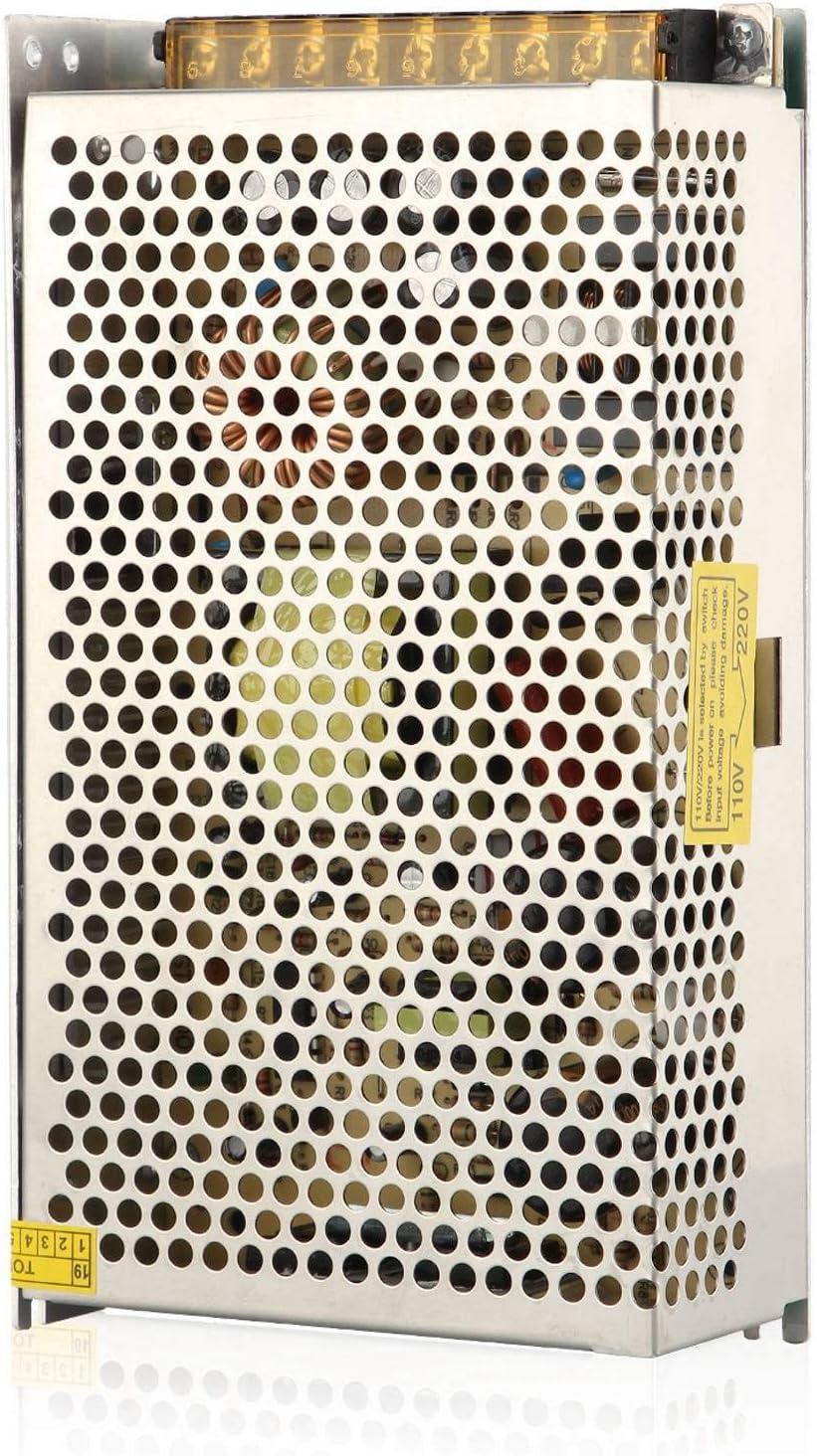 JVSISM Switching Transformador Del Adaptador De la Fuente De AlimentacióN Del Convertidor para la Luz De Tira Llevada Ac 100V / 220V una CC 12V 20A 250W Fuente Llevada De Luz De Tira Modo