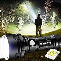 30000-100000 Lumen Krachtige Led Waterdichte Zaklamp Lamp Ultra Helder, Oplaadbaar Hand Zoeklicht Voor Outdoor Wandelen…