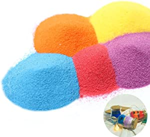 3 otters Art Sand, Craft Sand Scenic Sand Decor Colored Sand(10 Colors, Total 2.2 LB)