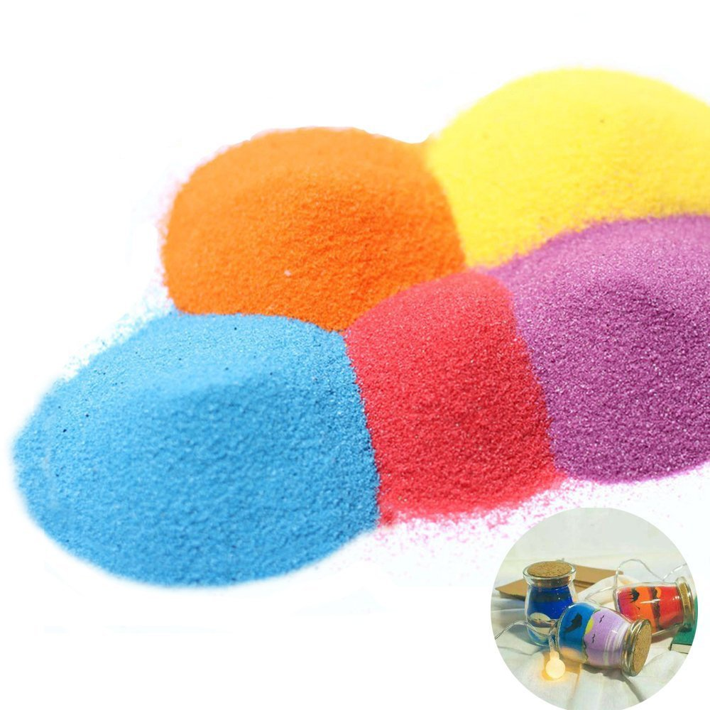Sand Art kit 12 Color Colored Sand Art Kit Art Sand Scenic Sand wiht 10 Sheets Sand Art Painting Cards Set Children Art Toy Shindel 0.92 LB