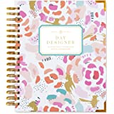 """Day Designer Midyear 2017-2018 Original Flagship Edition Daily Planner, 9"""" x 9.75"""", Painterly Floral"""