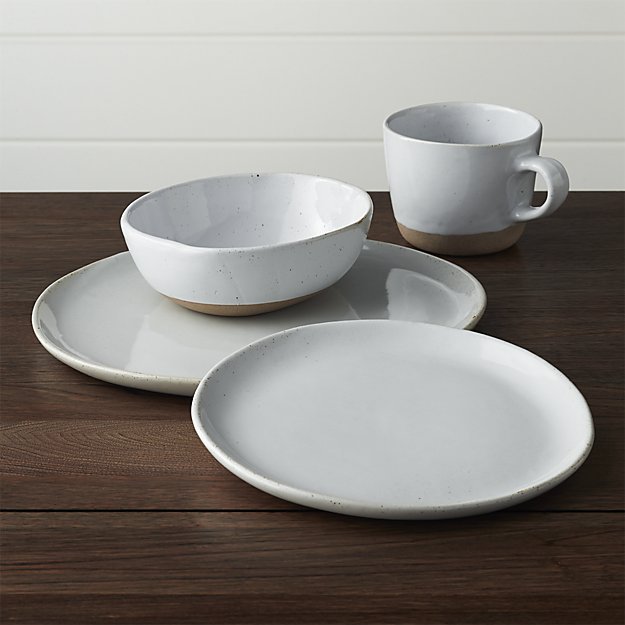 Welcome White 4-Piece Place Setting | Crate and Barrel