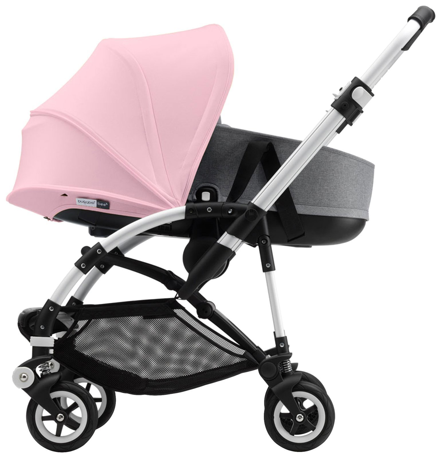 Bugaboo Bee5 Sun Canopy, Soft Pink - Extendable Sun Shade for Full Weather Protection, Machine Washable by Bugaboo (Image #2)