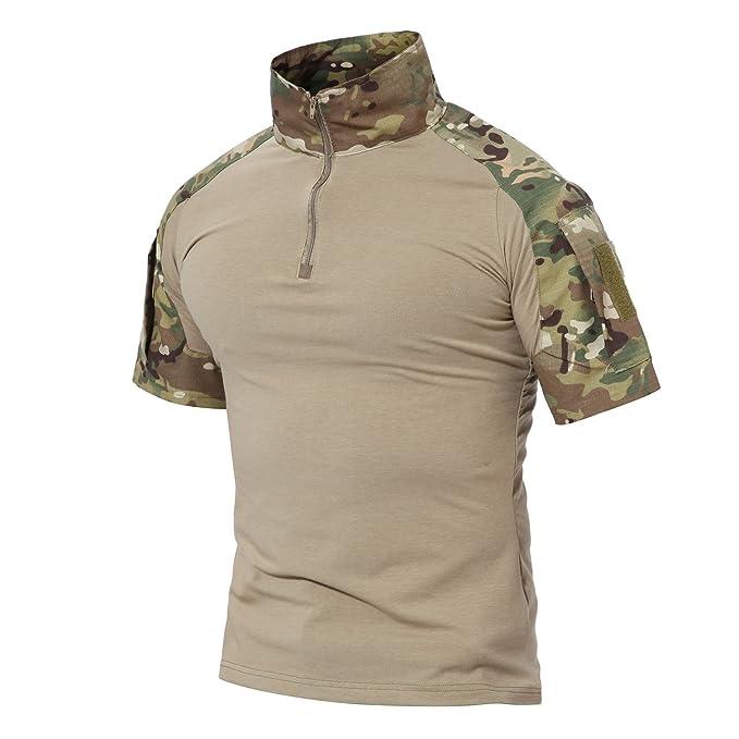 1 opinioni per Magcomsen Uomini All'aperto Tattico Militare Sottile In forma Maglietta Corto