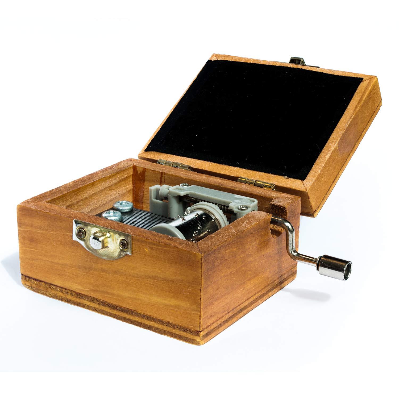 Chengu 2 Pezzi Manovella Carillon Musica Box Fai da Te Music Box Manovella Meccanica Musica Box per Natale Compleanno Bambini Amici Regalo