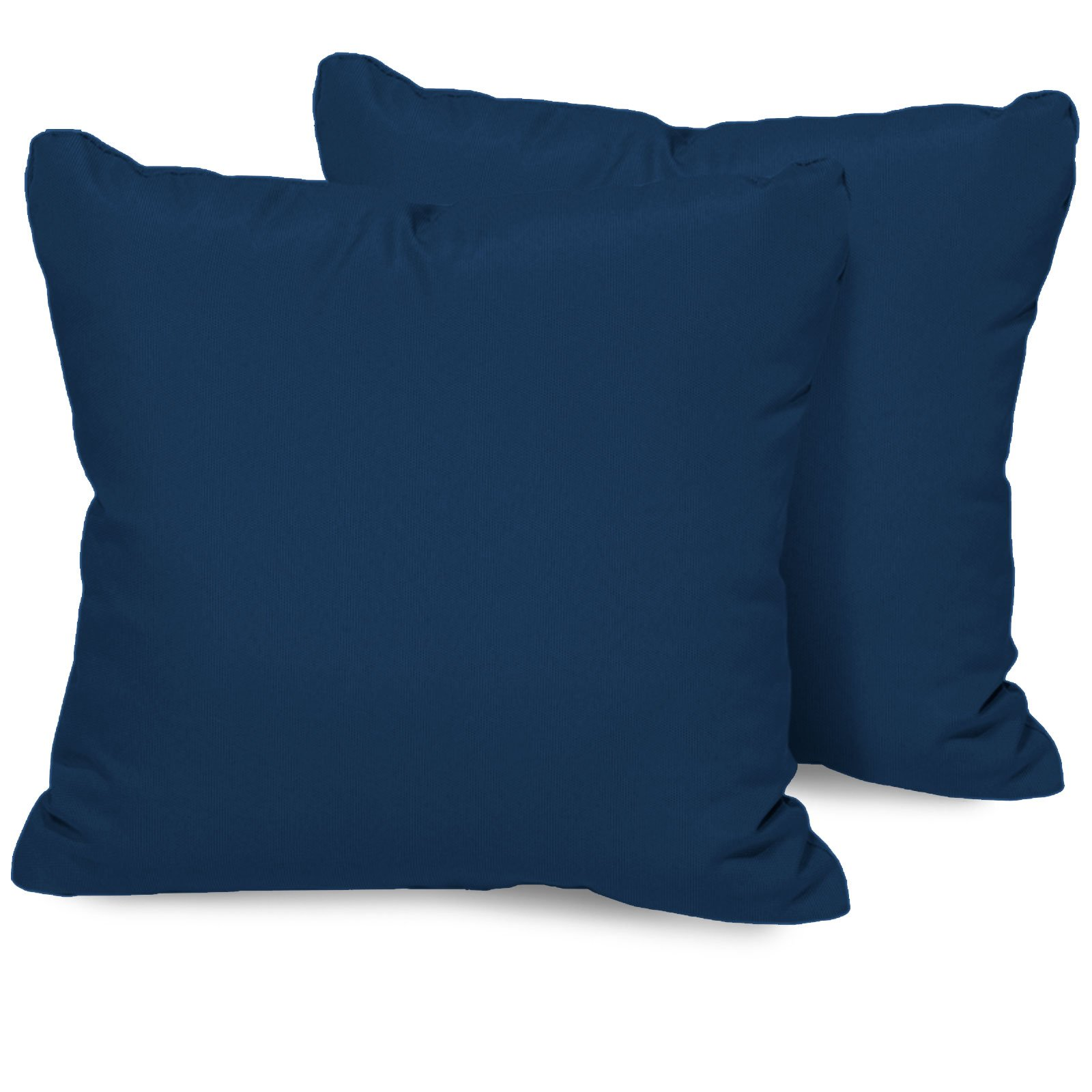 TK Classics Set of 2 Outdoor Square Throw Pillows, Navy by TK Classics