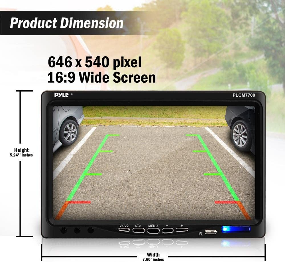 New PLCM4500 4.3/'/' Pop-Up Monitor /&  Backup Camera w//Distance Scale Line System