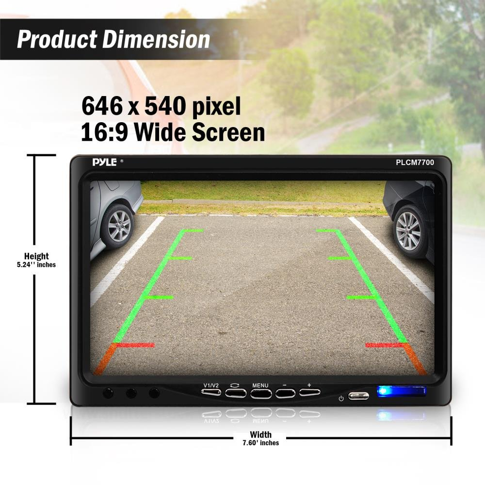 Amazon.com: Pyle Backup Rear View Car Camera Screen Monitor System -  Parking & Reverse Safety Distance Scale Lines, Waterproof, Night Vision, ...