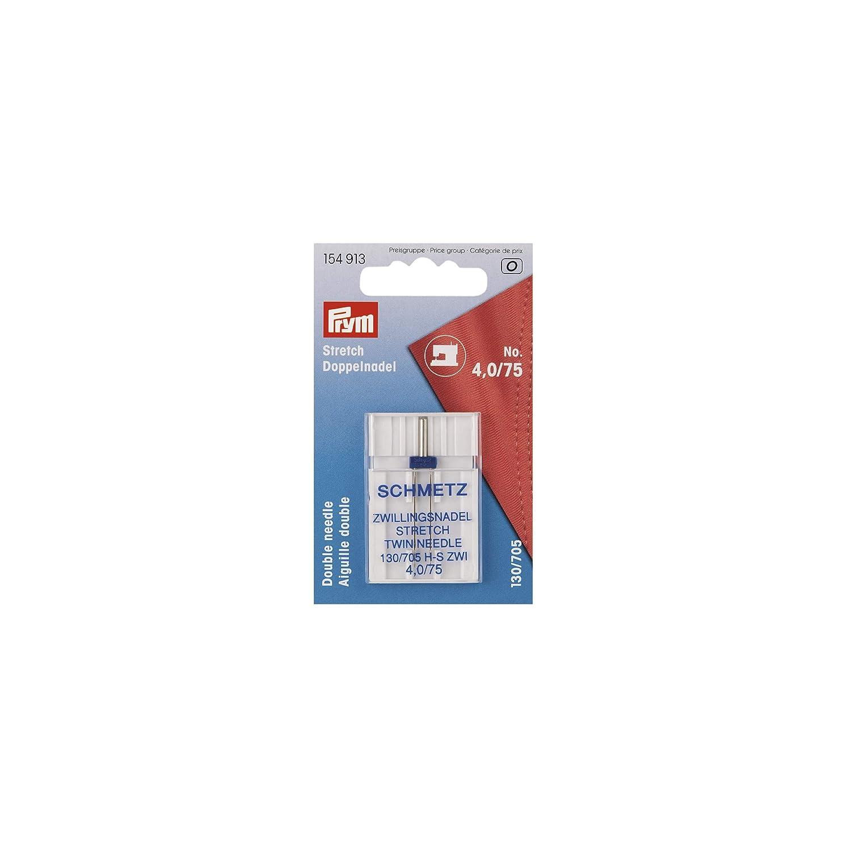 PRYM/SCHMETZ 154913 Double Sewing Machine needle STRETCH 130/705 H-S ZWI needle spacing: 4.0mm, NM 75/11, 1 piece PRYM-Consumer 1002646