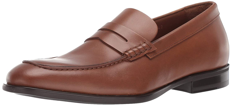 Cognac Aquatalia Mens Adamo Dress Calf Penny Loafer