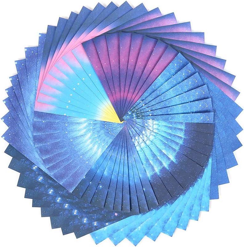 fanshiontide 150 Pieces DIY Craft Origami Paper rain Dew Origami Stars Star Origami 15x15 cm Folded Paper Double-Sided Rainbow Origami Double-Sided Pattern