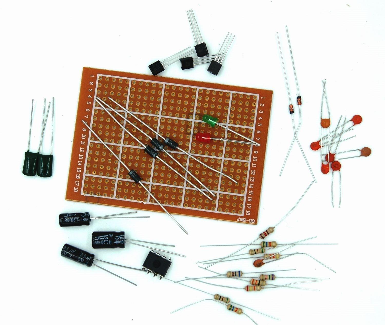 セラーテクノン 基板 半田 付け 練習 キット 部品 付 10 セット 組みの画像