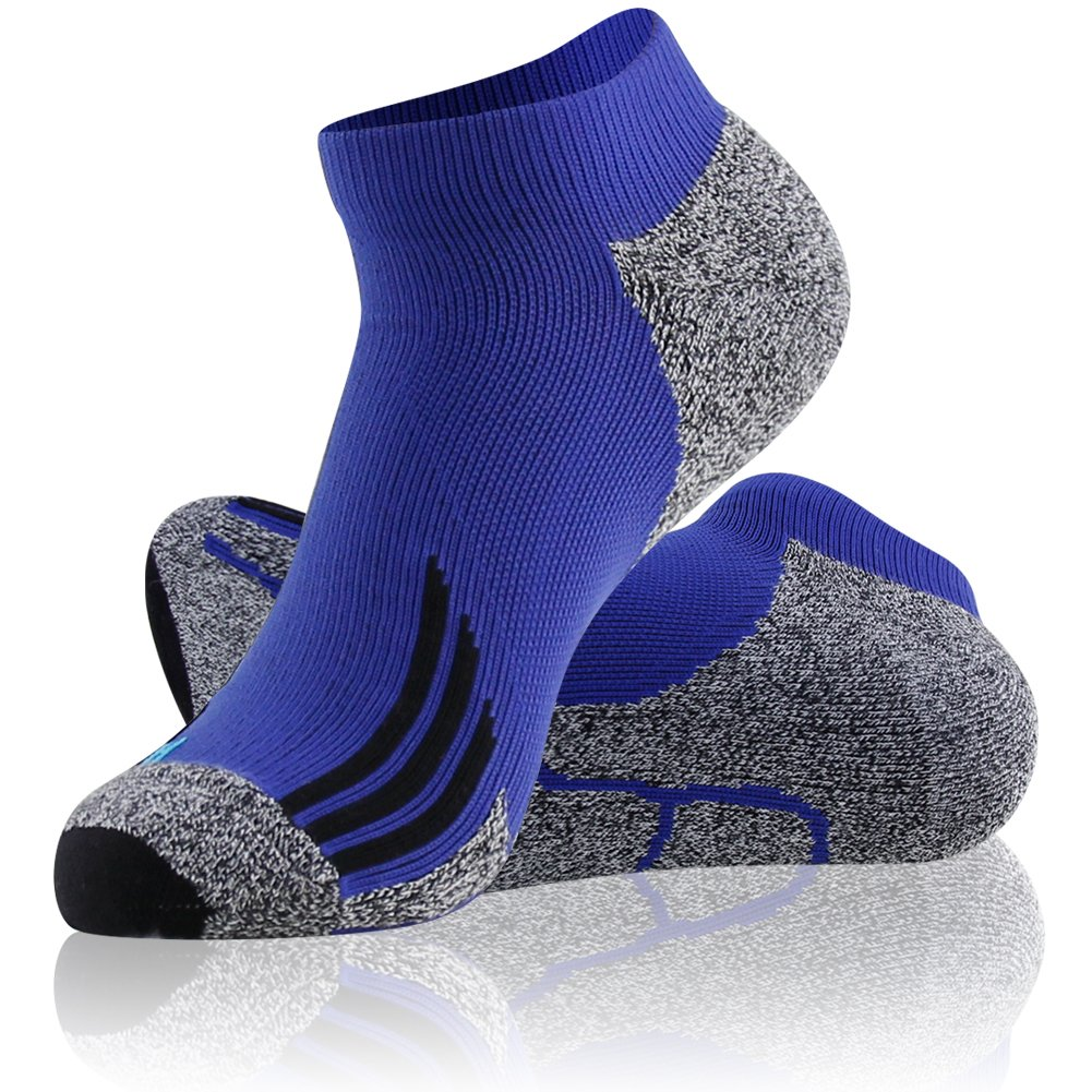 LANDUNCIAGA Mens Compression Running Socks Unisex Ankle Cycling Athletic Socks 10-15 mmHg,1//3//6 Pairs
