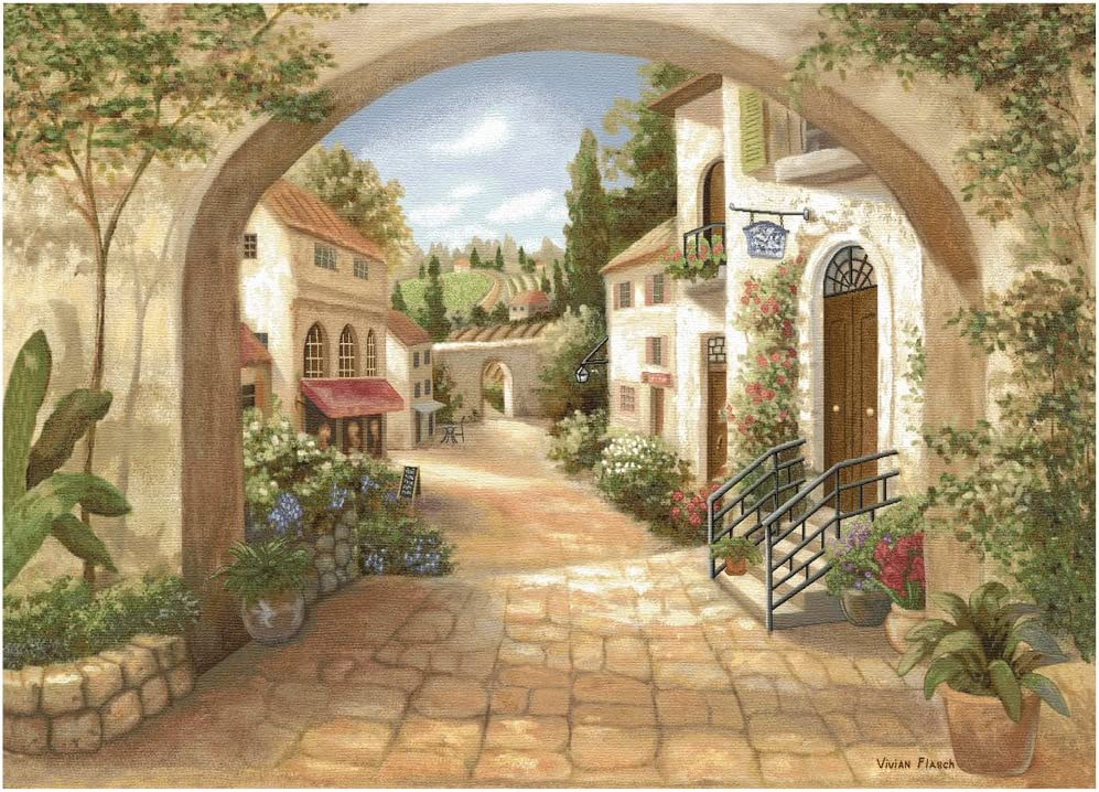 Design Toscano Quaint Town Wall Tapestry