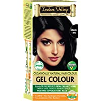 Indus Valley Natural Damage Free Gel Hair Colour, Black 1.0