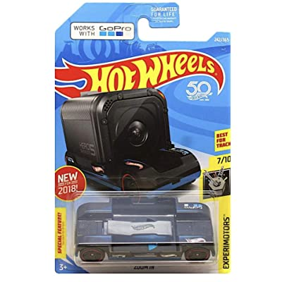 Hot Wheels 2020 50th Anniversary Experimotors Zoom In 242/365, Black: Toys & Games