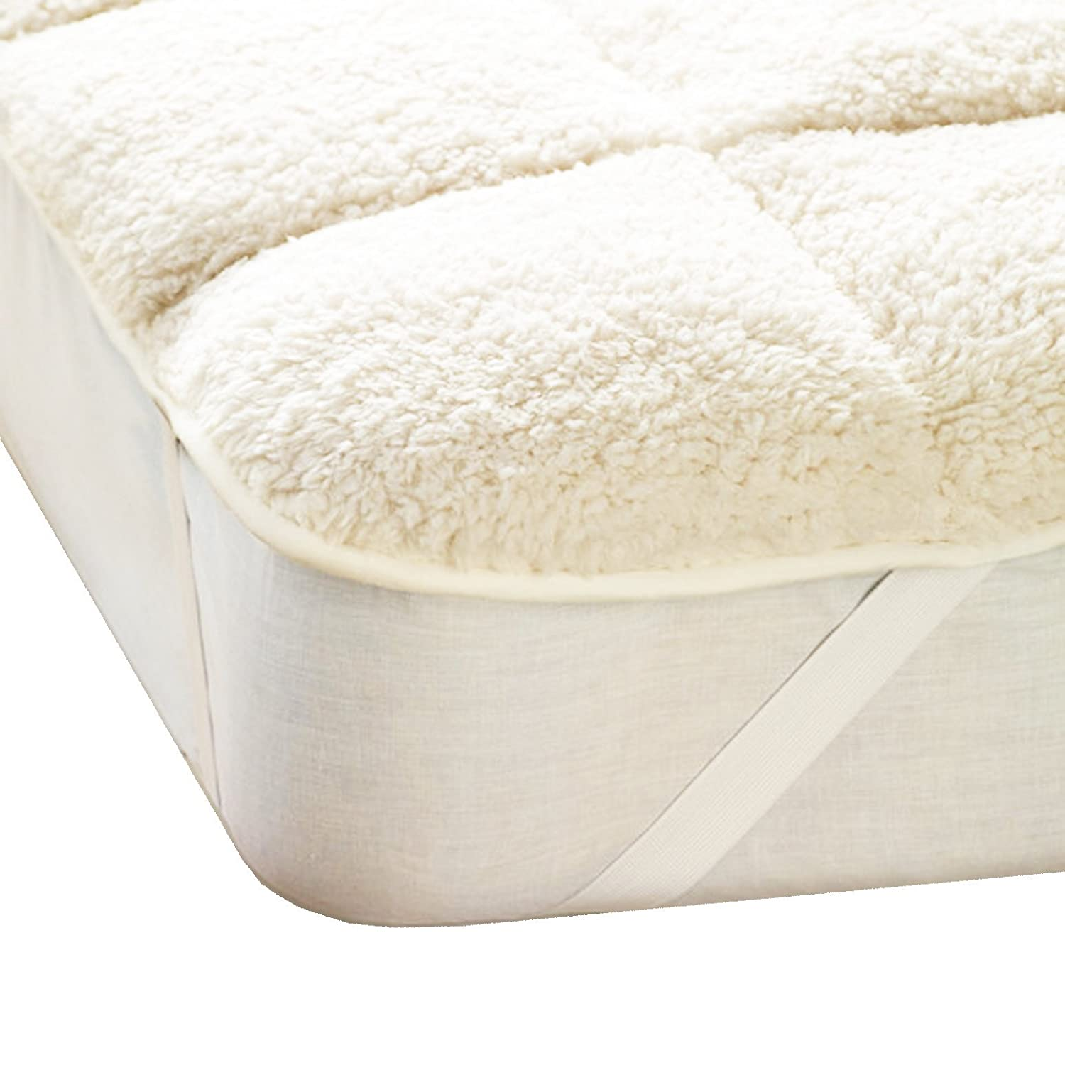 Single Double King Super King Size Reversible Double Olivia Rocco Luxury Teddy Mattress Topper Enhancer