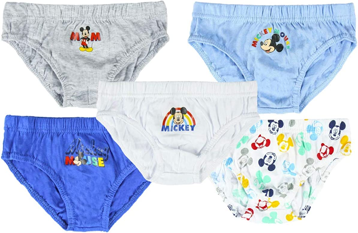 2 a 4 a/ños paquete m/últiple de 5 calzoncillos cortos Disney Mickey Mouse pantalones para ni/ños ropa interior infantil calzoncillos pantalones de calzoncillos 100/% algod/ón suave