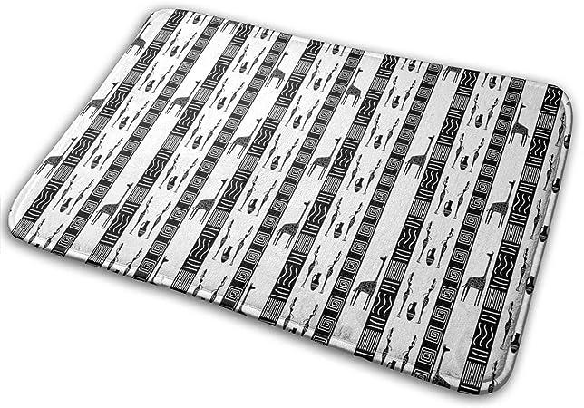 """Imagen deBLSYP Felpudo The African Theme Doormat Anti-Slip House Garden Gate Carpet Door Mat Floor Pads 15.8"""" X 23.6"""""""