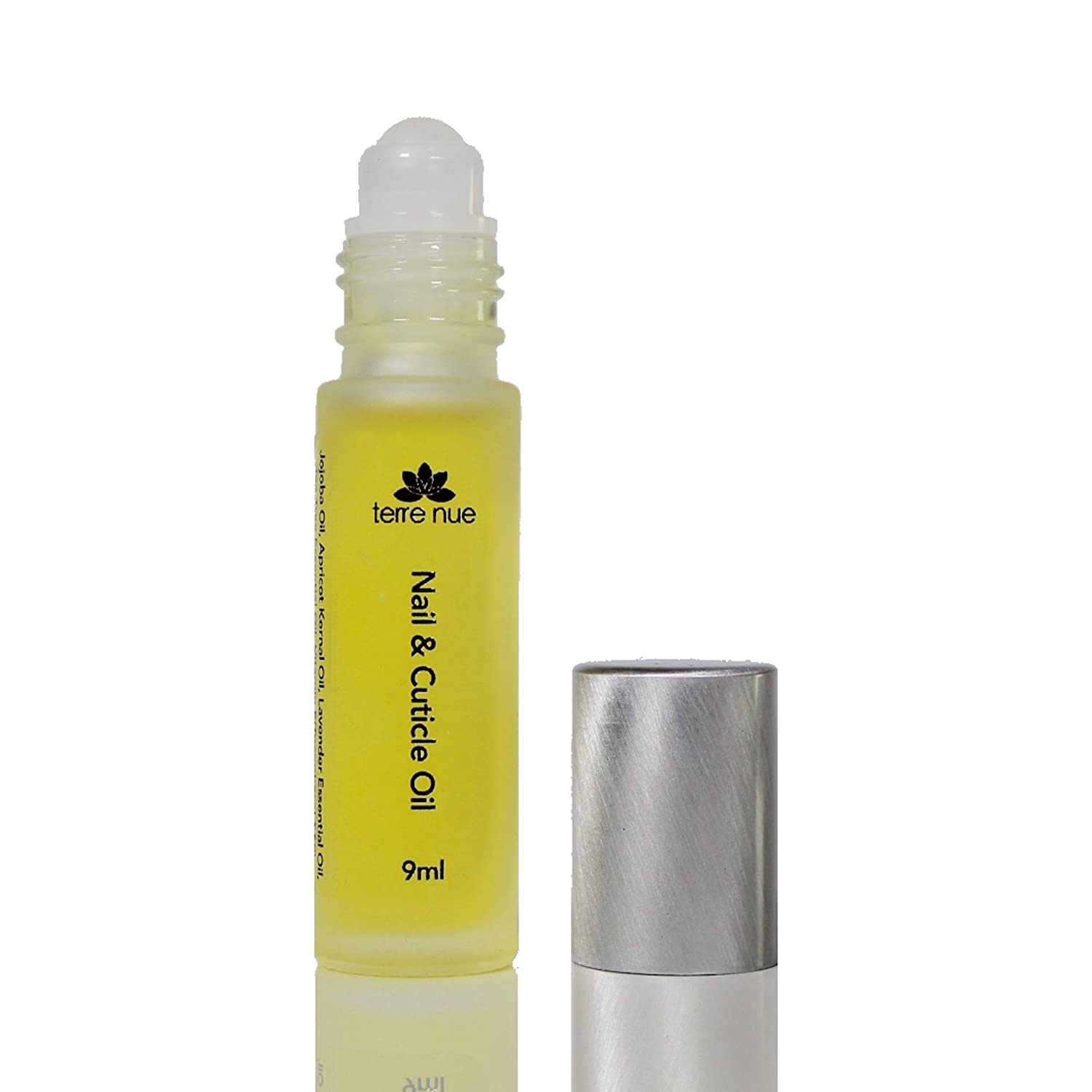 Cuticle & Nail Oil | Strengthens Nail & Repairs Damage | Vitamin E Enriched | Heals Cracked, Brittle, Dry Finger | Easy Roll on Applicator | All Natural & Vegan | Free Cuticle Remover Included