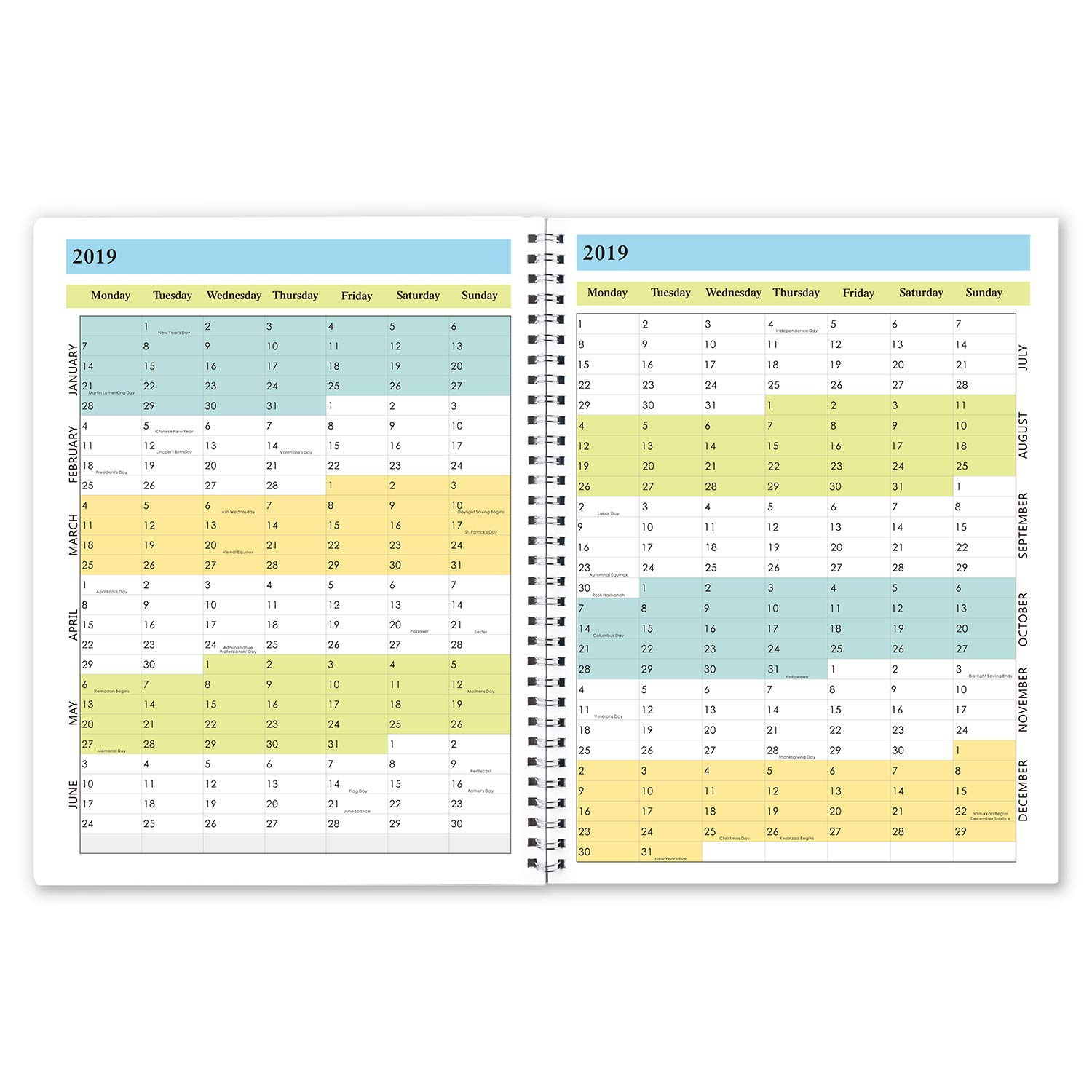 Monthly Planner 2019 Nov 2018 Dec 2019 Personal Schedule