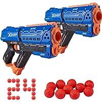 X-Shot Chaos Meteor Dart Ball Blaster (24 Dart Balls) - Double Blaster Pack by Zuru