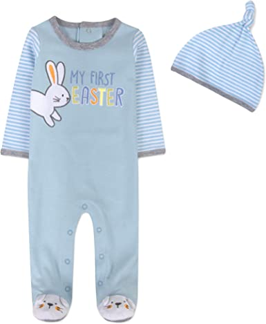 NEW Baby Girl First Easter One Piece Some Bunny Love Sizes Newborn thru 12M