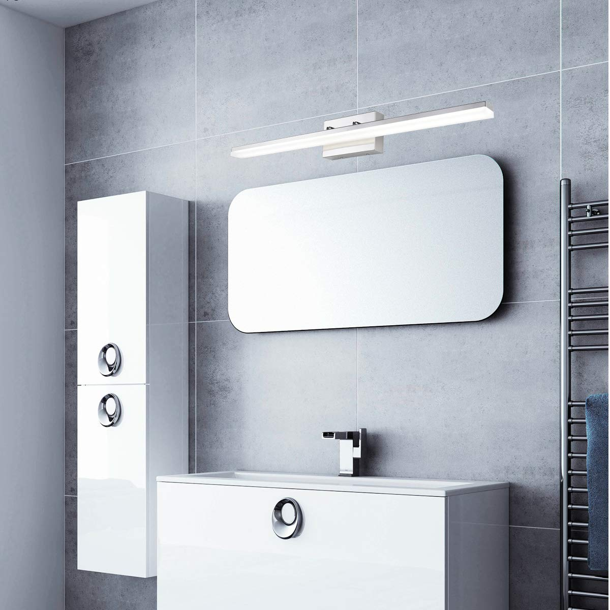 mirrea 36in Modern LED Vanity Light for Bathroom Lighting Dimmable 36w Cold White 5000K by mirrea (Image #2)