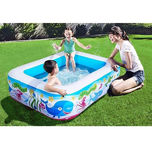 SWIMDQ Inflable Natación Piscina para niños Azul Kiddie ...