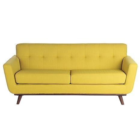 Amazon.com: Joseph Allen Retro 3 Seater Sofa, Daffodil: Home ...