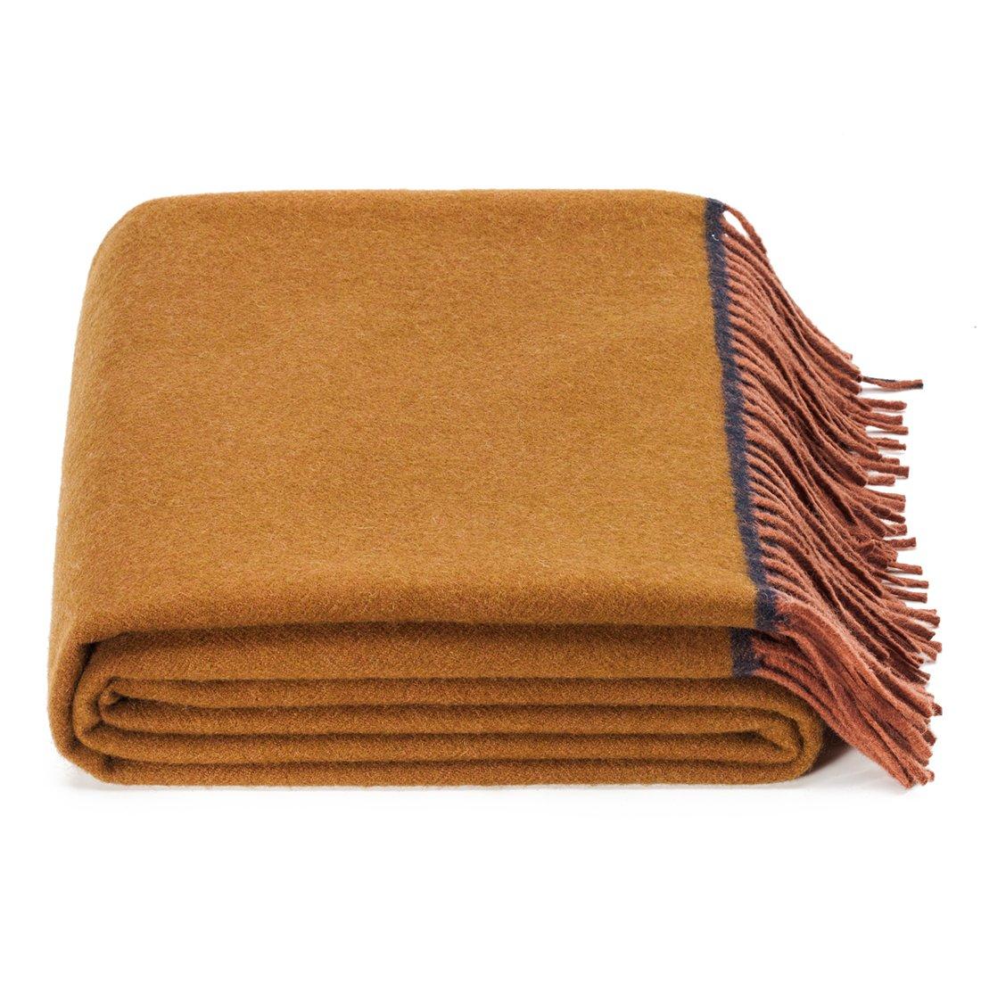 SPENCER&WHITNEY Super Blanket Soft Throw Australian 100 Wool Super Soft Blanket Light And Breathability Blanket Wool Throw
