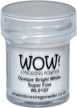 Image of WOW - Polvo para repujado (5 x 3 x 3 cm), color blanco