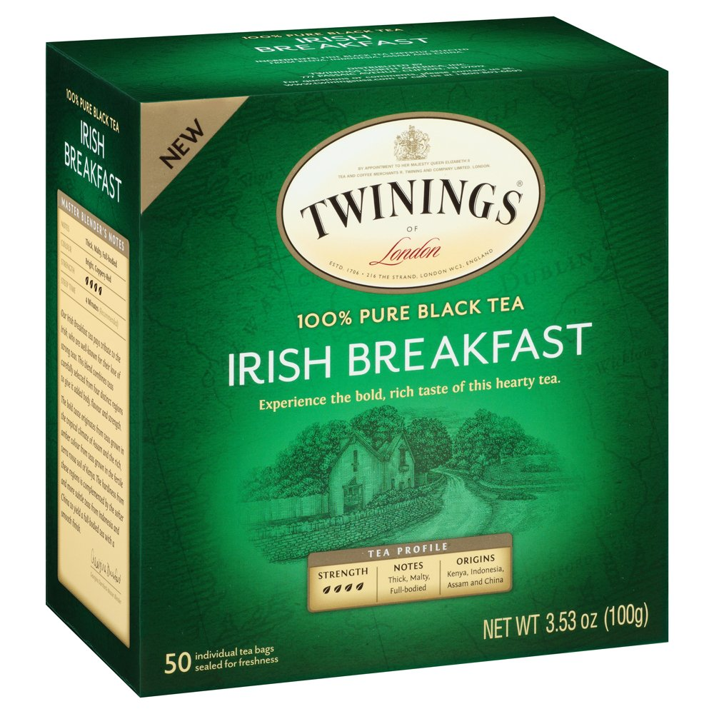 Twinings Irish Breakfast Black Bagged Tea, 50 Count (Pack of 2) by Twinings