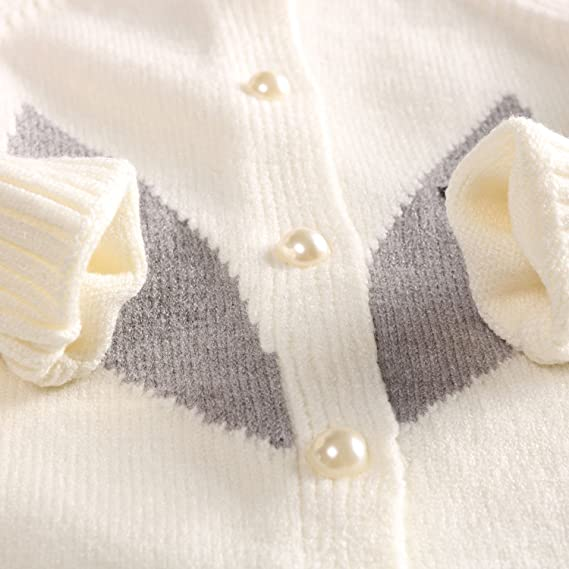 BabyPrem Baby Cardigan Bolero Girls Clothes White Pink Knitted 0-24 Months