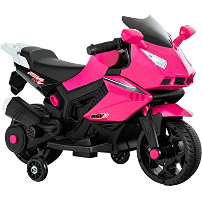 Uenjoy Kids Ride On Motorcycle 6V Electric Battery Powered Motorbike for Kids, Music & Headlight: Toys & Games