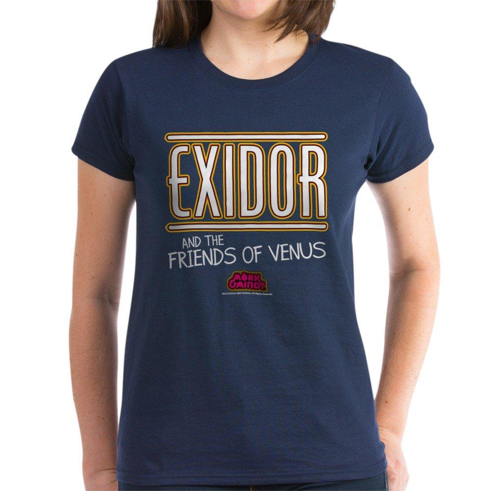 723cec58be0 Amazon.com  CafePress - Exidor Women s Dark T-Shirt - Womens Cotton T-Shirt   Clothing