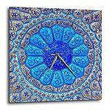 3dRose Danita Delimont - Patterns - Islamic pottery designs. Madaba, Jordan - 13x13 Wall Clock (dpp_276920_2)