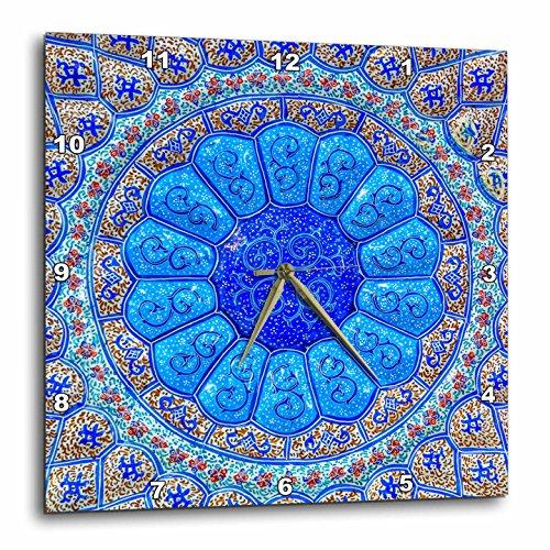 3dRose Danita Delimont - Patterns - Islamic pottery designs. Madaba, Jordan - 13x13 Wall Clock (dpp_276920_2) by 3dRose