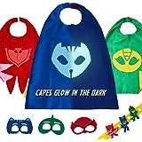 PJ Masks Costume Kids Toys - Gekko Owlette & Catboy 3 Halloween Party Cape Mask