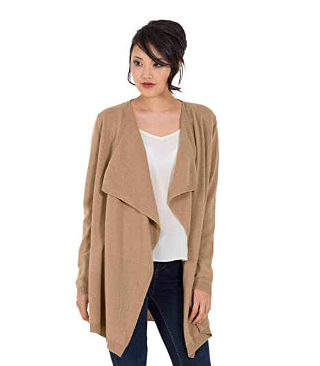 Womens Cashmere and Merino Waterfall Knitted Cardigan  Amazon.co.uk ... deded11cec
