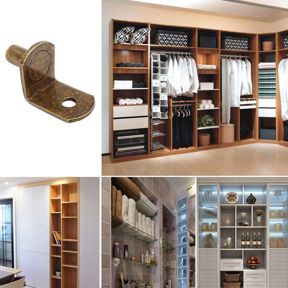 estantes Soporte en forma de L para estantes estantes con agujero 50 unidades muebles 6 mm para armarios