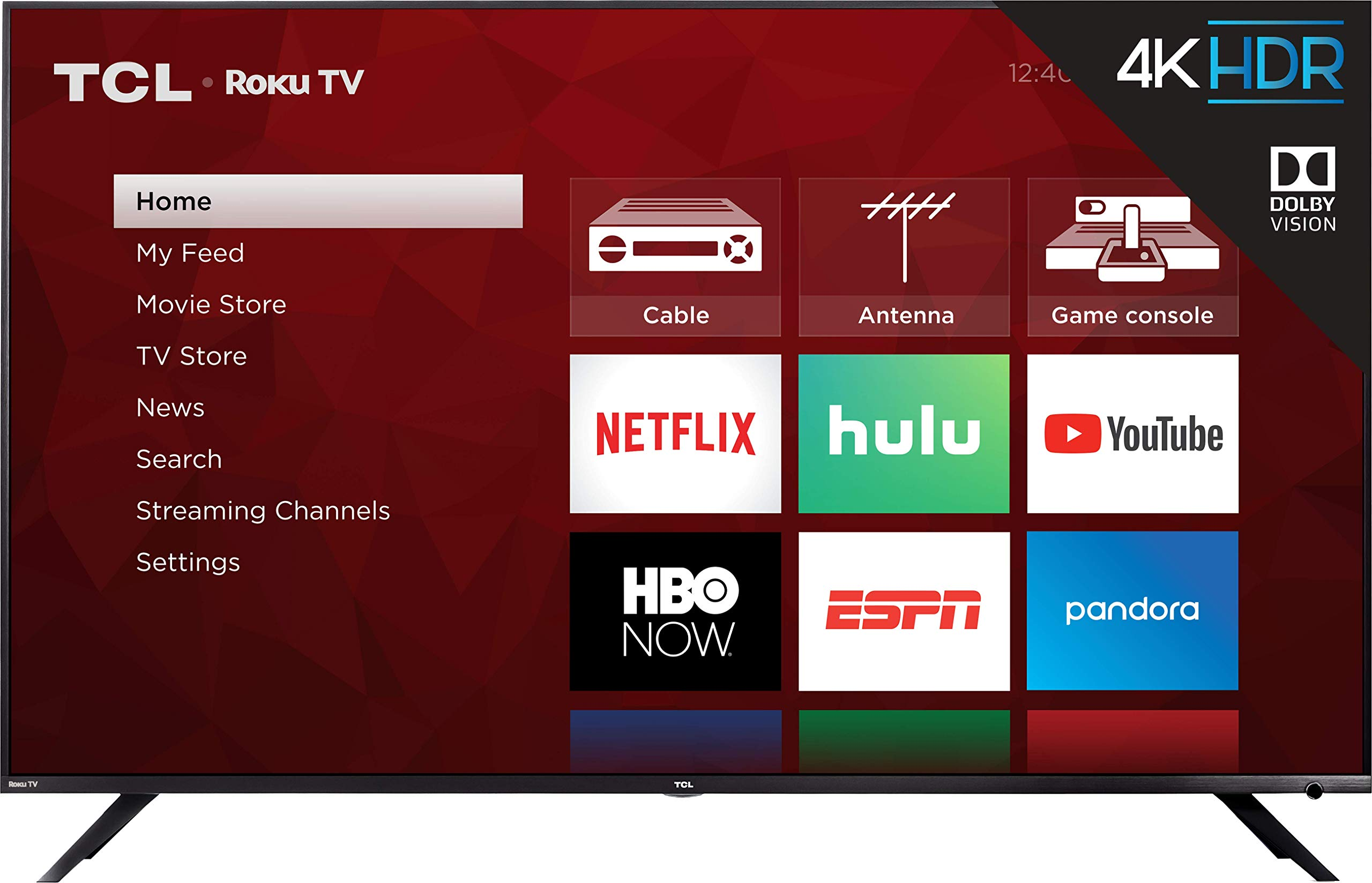 TCL 65R617 65-Inch 4K Ultra HD Roku Smart LED TV (2018 Model) by TCL (Image #2)