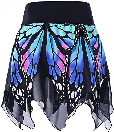 FRAUIT Falda con Estampado de Mariposa de Mujer Uniforme Atractivo ...