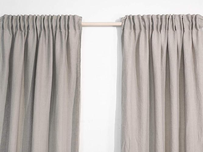 Leinenvorhängegardinen Vorhänge Mit Kräuselband Amazon