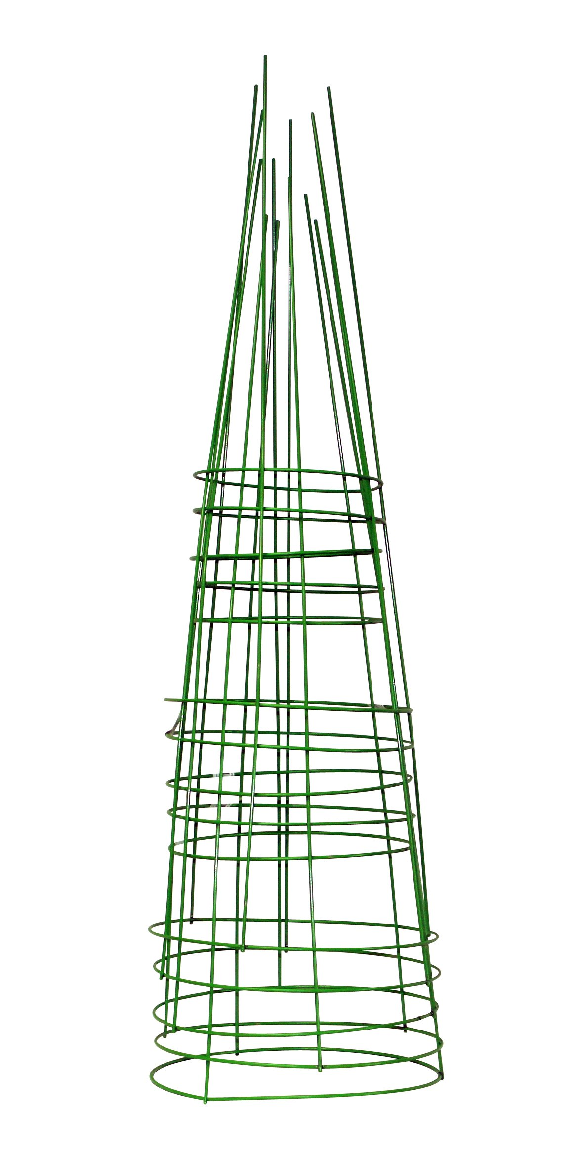 Glamos 748096 14-Inch x 42-Inch Heavy Duty Metal Tomato Cage - 5 Pack Light Green