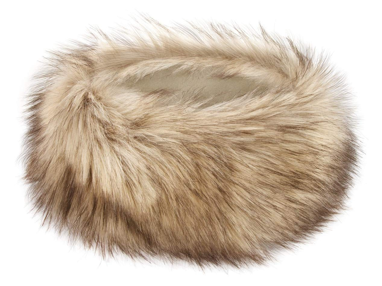 Futrzane Winter Faux Fur Headband for Women and Girls (White) Futrzane-opaska-3