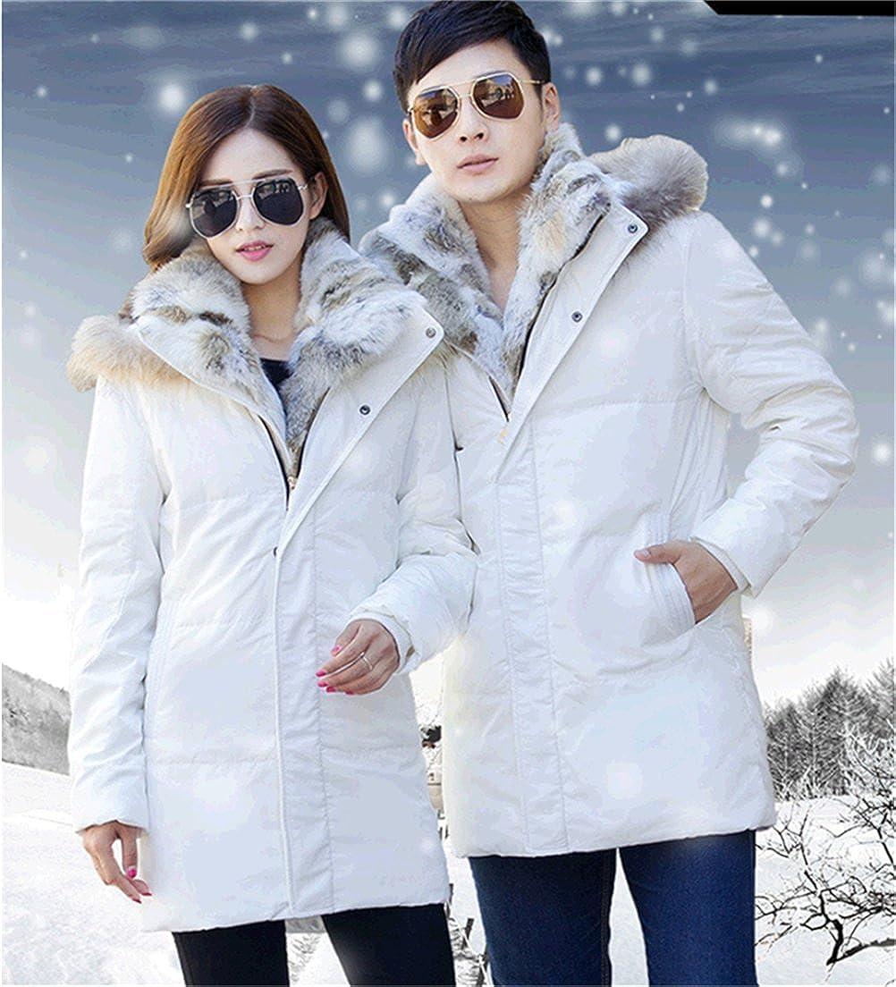 WS668 Winter Mens Warm Coat Faux Fur Lined 90/% Down Hooded Fur Collar Long Jacket